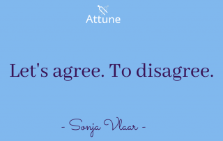Let's agree. To disagree.